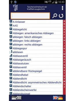 Kfz Android Handy Liste Deutsch